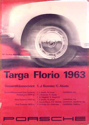 Porsche Racing Posters Targa Florio 1963