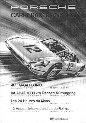 Poster: Porsche Carrera GTS Typ 904